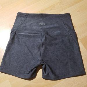 PINK high waisted workout shorts